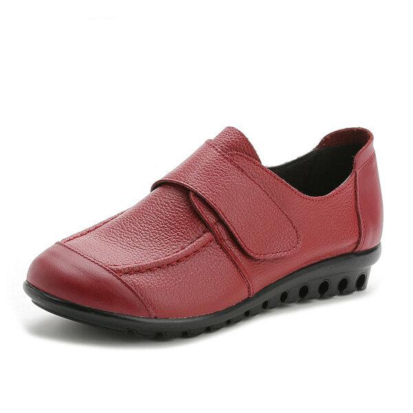 Zapatillas sin cordones de cuero para mujer Soft Magia Palo Mocasines cómodos de color puro