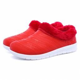 Botas Mujer Invierno mantener caliente Impermeable zapatos de algodón tobillo Botas