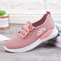 Zapatillas sin cordones livianas y cómodas de malla transpirable para mujer