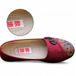 Mujer Ocio Zapatos elegantes Respirable Slip-mocasines Sudor de absorción Pisos