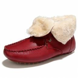 Forro de piel de invierno Mantener cálido tobillo de algodón Casaul Snow Botas