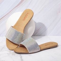 LOSTISY Mujer cuenta Individual Banda Casual Slide Sandalias