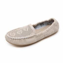 US Sise 5-10 Mujer Mocasines Cuero al aire libre Soft Sole Flats Zapatos casuales