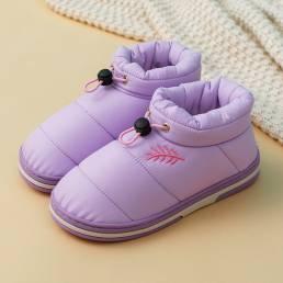 Peluche cálido para mujer Impermeable Elástico Banda Interior zapatillas