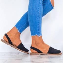 MujerSummerFishMouthSlipen Sandalias Zapatos