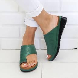 LOSTISY Mujer Flor Patrón Anillo cómodo para el dedo del pie Casual Sandalias