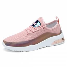 Zapatillas de deporte informales cómodas con plataforma con cordones y punta redonda al aire libre para mujer
