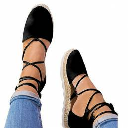 Alpargatas de tiras para mujer Plus Tamaño Casual Color sólido Plataforma de verano Sandalias