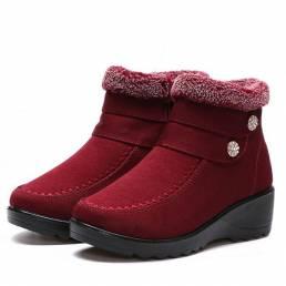 Alto Top Mantenga Warm Suede Algodón Zapatos Casual Nieve Botas