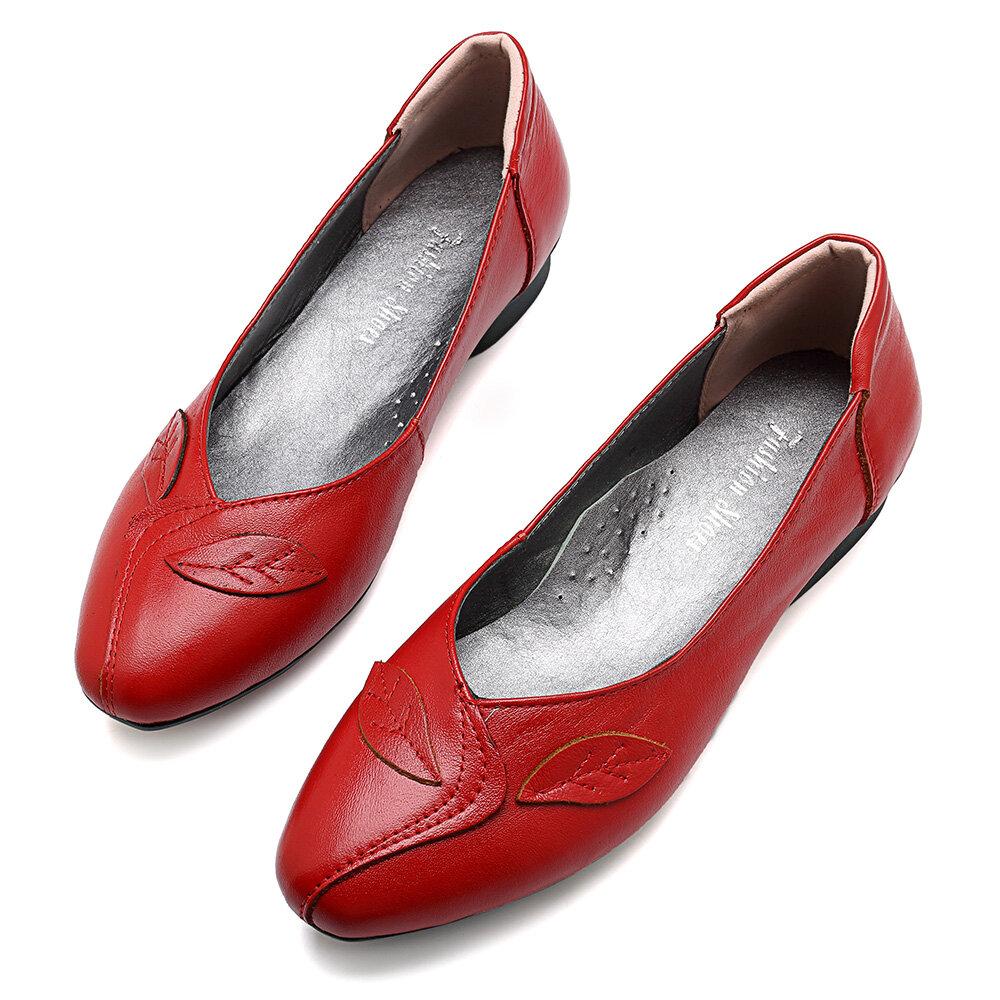 Zapatos de mujer Hoja Zapatos planos cómodos y casuales sin cordones