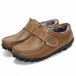 Forro de piel artificial Winter Snow Gancho y zapatos planos Loop