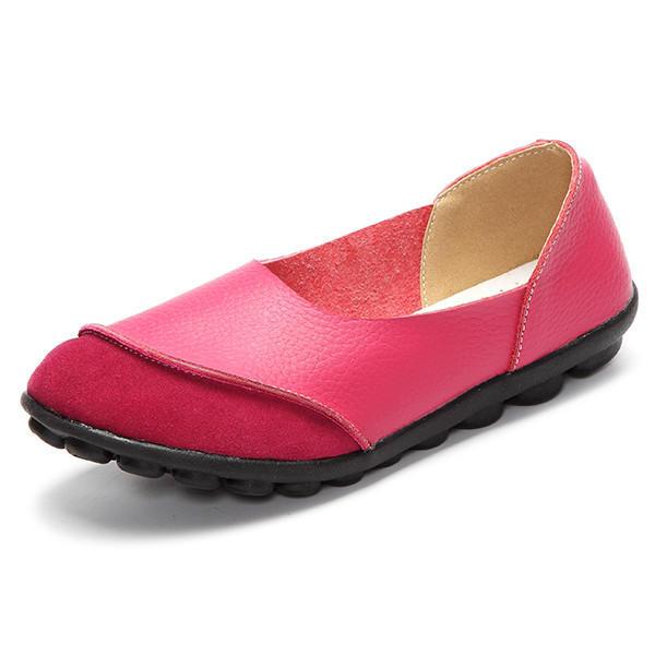Calzado suave y cómodo en zapatos planos casuales Patrón Match