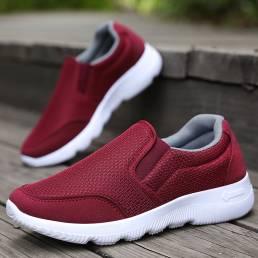 Zapatos para caminar informales transpirables de malla de gran tamaño para mujer
