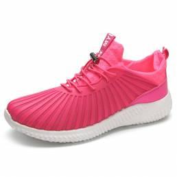 Zapatos deportivos con cordones de punta redonda transpirables y transpirables