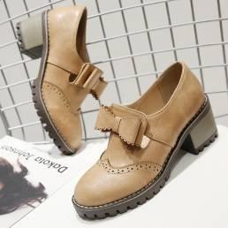 MujerOxfordRetroBrogueButterflyKnot Shoes