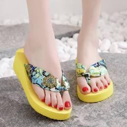 Ropa de mujer Banda Plataforma con punta de clip zapatillas