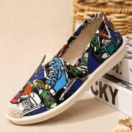 Zapatos casuales elegantes de los holgazanes del dedo del pie redondo suaves de las mujeres