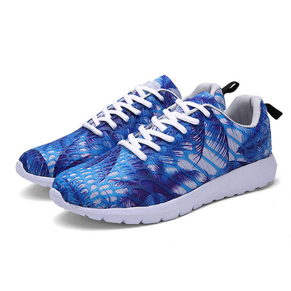 Unisex Sport Running Casual al aire libre Calzado deportivo plano ligero de camuflaje de moda
