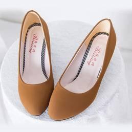Mujer Slip On Bombas informales Leopard Wedge Heels Plataforma Zapatos de ocio