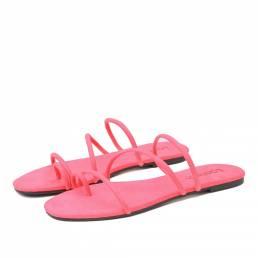 LOSTISY Mujer Anillo de dedo del pie de color sólido con tiras Casual Sandalias