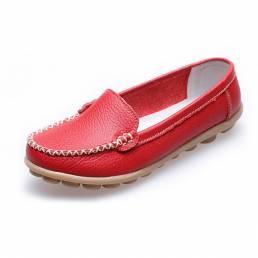Mujer Casual Flats mocasines de punta redonda Soft suela de mocasines planos