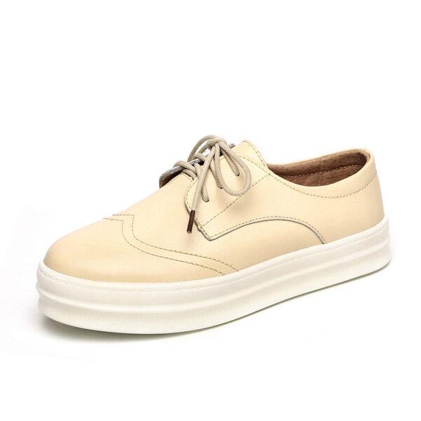 Zapatos casuales elegantes para mujer Zapatos deportivos con cordones Soft Zapatos con suela de plataforma
