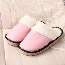 Forro cálido para mujer Impermeable Antideslizante Sin espalda Invierno Interior zapatillas