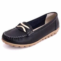 Mujer Casual Otoño Pisos Zapatos de punta redonda Soft Mocasines planos inferiores