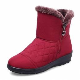 Mantener invierno cálido piel informal Forro abajo tobillo nieve Botas
