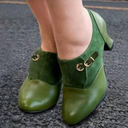 Mujer Plus Zapatos de salón sin cordones lisos con costura de tamaño