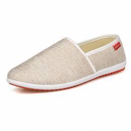 Zapatos de hombre Mezcla de algodón Deslizamiento superior bajo en Casual al aire libre Cómodos pisos