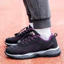 Zapatos para caminar ligeros y antideslizantes de malla elástica Banda para mujer