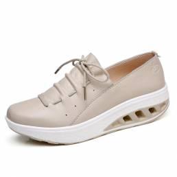 Zapatos Rocker Sole de cuero de vaca