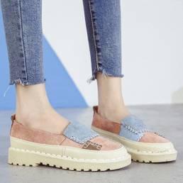Mujeres que empalman antideslizantes Soft Resbalón casual en cómodas zapatillas