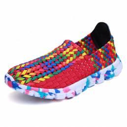 Tamaño de EE. UU. 5-10 Mujer Zapatos casuales hechos a mano al aire libre Zapatos cómodos transpirables