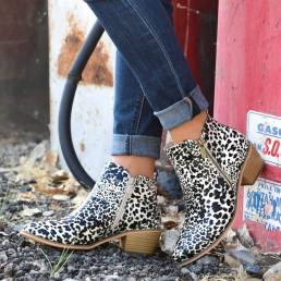 Mujer Plus Talla Toe puntiagudo Tobillo grueso tobillo Botas