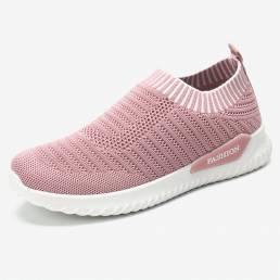 Mujeres transpirables de punto ligero ligero casual Soft zapatillas deportivas para correr