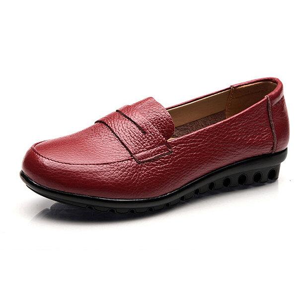 Nuevo Mujer Soft Mocasines planos cómodos casuales Zapatos planos sin cordones de moda con punta redonda