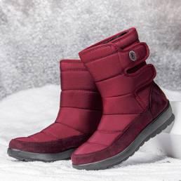 Mujer Casual Impermeable Warm Gancho Loop Short-Calf Snow Botas