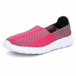Nuevo Stretch Knitting Mujer Casual Sport Shoes
