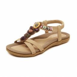Mujeres Verano Ocio Playa Sandalias Peep Toe Chic Zapatos Casual Flat Sandalias