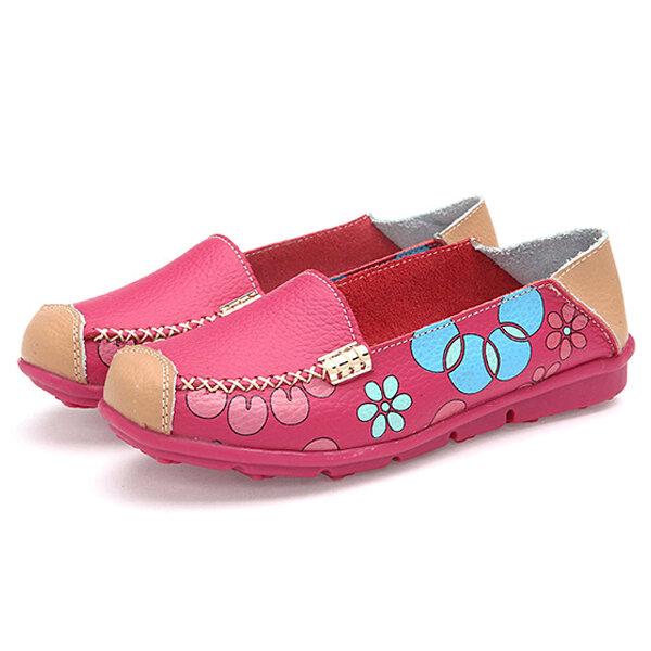 Zapatos planos de mujer Zapatos cómodos y transpirables con flores
