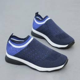 Zapatillas cómodas de malla elástica transpirable Banda para mujer