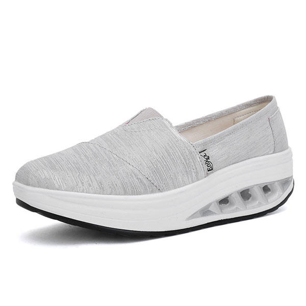 MujerLienzoalairelibreSport Casual Flat Rocker Sole Zapatos