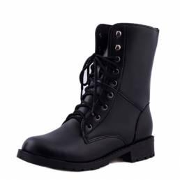 Tamaño de EE. UU. 5-10 Zapatos de vestir de moda casual con cordones Mujer Mid-Calf Botas