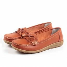 Zapatos planos para mujer en casual Soft al aire libre Mocasines planos con punta redonda Zapatos