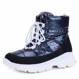 Mujer Forro cálido cómodo Impermeable Short con cordones Snow Botas