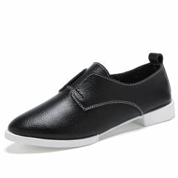 Mujer Casual Flats Mocasines con punta puntiaguda Zapatos de conducción planos Soft Sole Flats