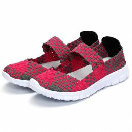 Mujer Casual Light Knitting Sport Salud Zapatos planos transpirables
