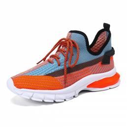 Zapatos para correr transpirables de punto de malla de gran tamaño para mujer